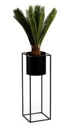 Kwietnik stojący 70 cm Ring czarny LOFT