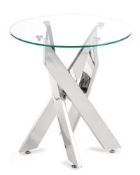Stolik pomocniczny okrągły Nolla Silver