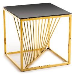 Stolik kawowy Laine Gold Black 55 cm