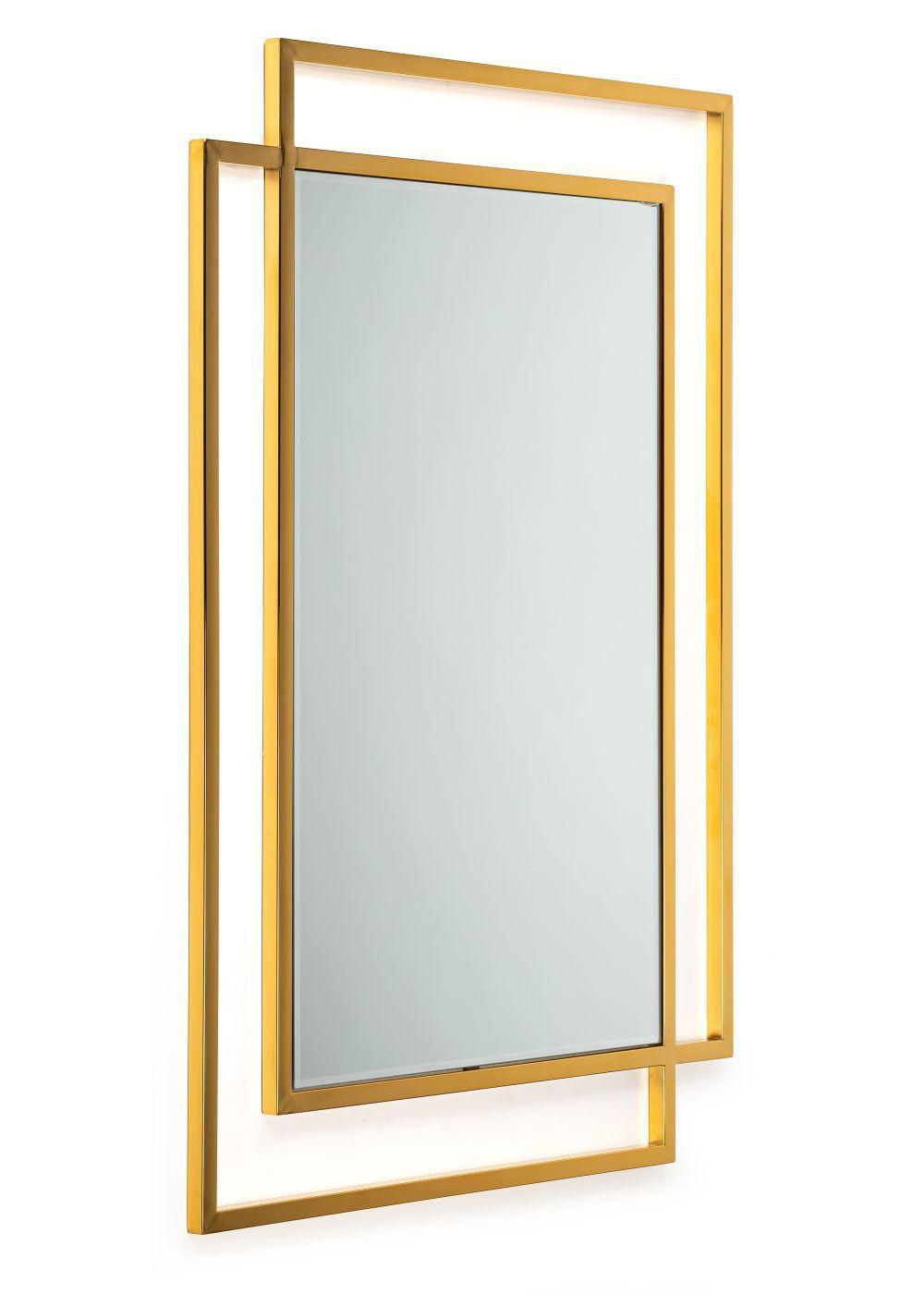 Lustro Vido Gold 110x80 cm