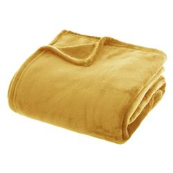 Koc pluszowy Flanel 180x230 cm żółty