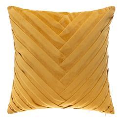 Welurowa poduszka Tresse 40x40 cm żółta
