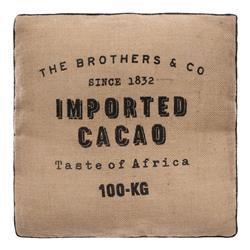 Jutowa poduszka do siedzenia Cacao