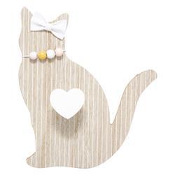 Wieszak Kot z haczykiem w formie serca
