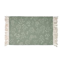 Dywan z frędzlami wzór kwiaty 60x90 cm