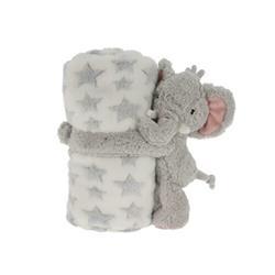 Kocyk dla dziecka z maskotką Słoń
