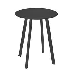 Stolik metalowy okrągły szary mat 40 cm