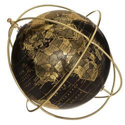 Globus dekoracyjny czarny 24 cm