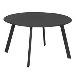 Stolik metalowy okrągły szary mat 70 cm