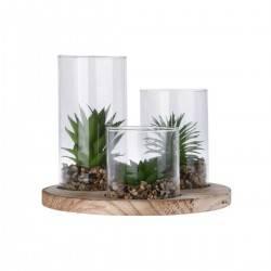 Rośliny sztuczne w szklanym słoju