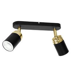 Nowoczesna lampa sufitowa czarno złota