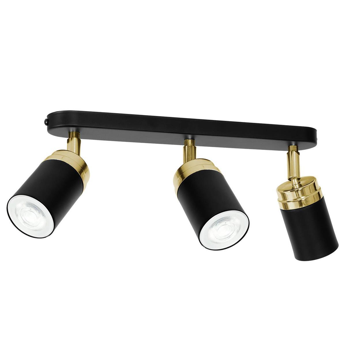 Nowoczesna lampa czarno złota Reno x3