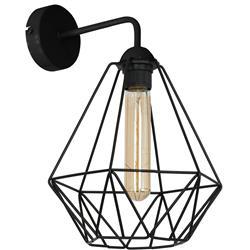 Lampa druciak kinkiet czarny 38 cm LOFT