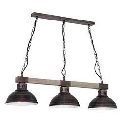 Lampa sufitowa industrialna Hakon brąz