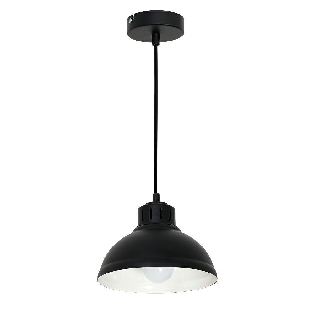 Lampa żyrandol industrialna Sven czarna