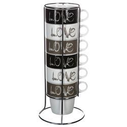 Komplet 6 filiżanek Love 260 ml