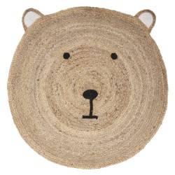 Jutowy dywan dla dzieci Bear 100 cm