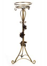 Kwietnik metalowy ozdobiony różami 100cm