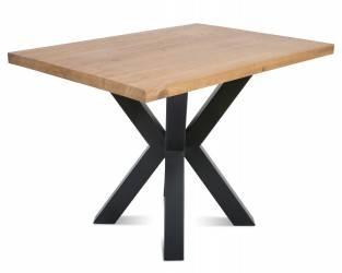 Stół pająk OakLoft 110x80 cm ciemny dąb