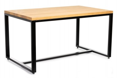 Duży stół jadalniany 150x90 cm jasny dąb
