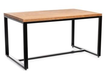 Duży stół jadalniany 150x90cm ciemny dąb