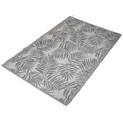 Mata podłogowa szara liście 120x180 cm