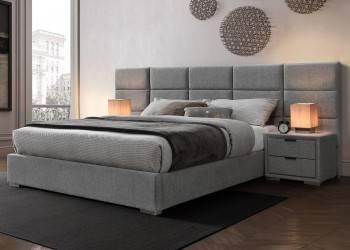 Łóżko Levanter 160x200 cm popielate
