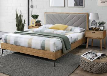 Łóżko Margarita 160x200 cm popielate