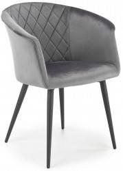 Krzesło tapicerowane K-421 popiel welur