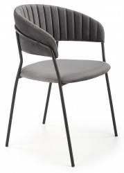 Krzesło tapicerowane K-426 popiel welur