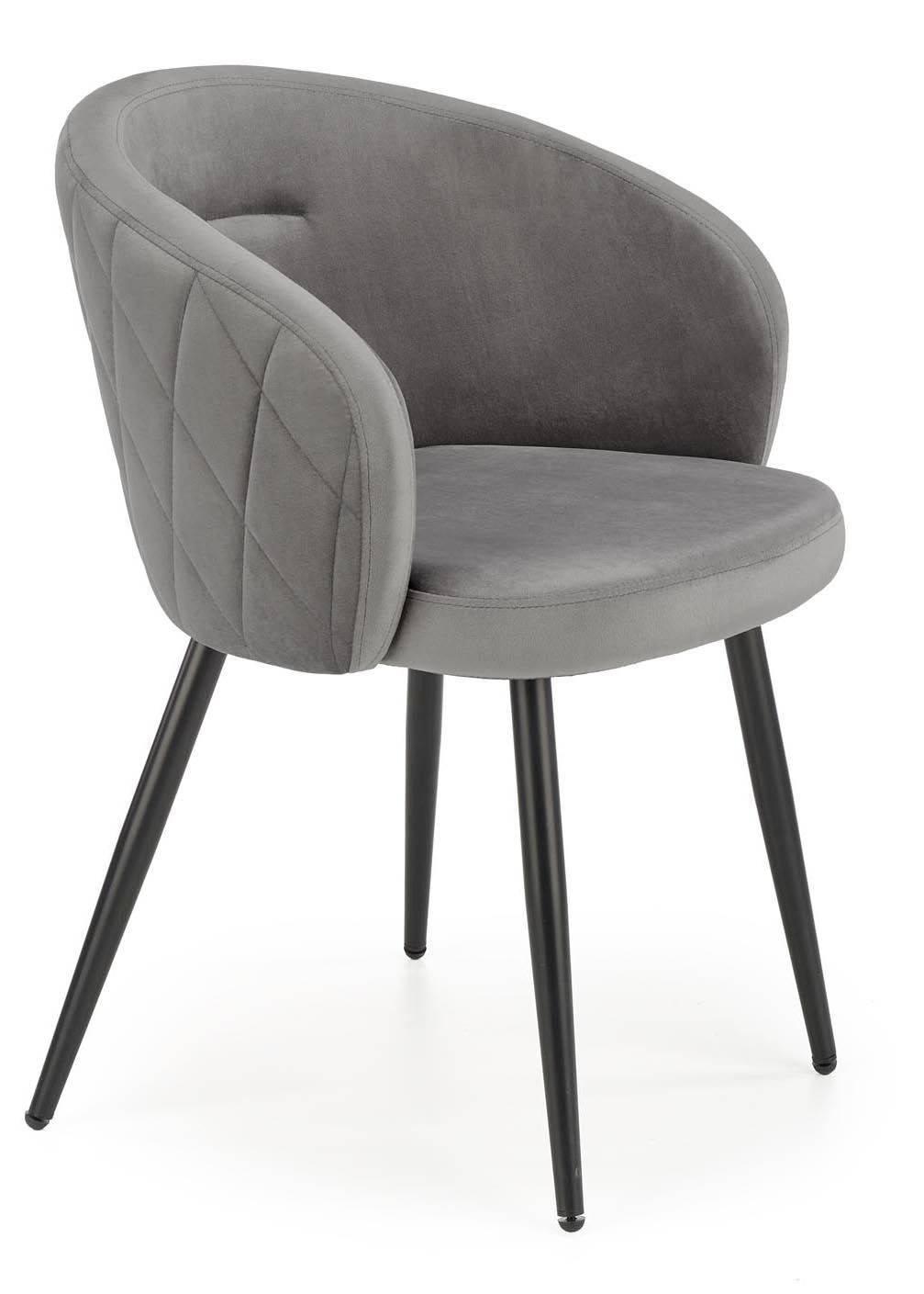Krzesło tapicerowane K-430 popiel welur