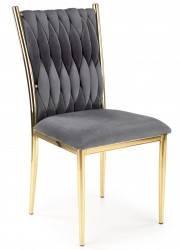 Krzesło tapicerowane K-436 popiel welur