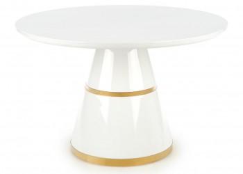 Stół okrągły Vegas White and Gold 120 cm