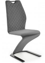 Krzesło tapicerowane K-442 popiel welur