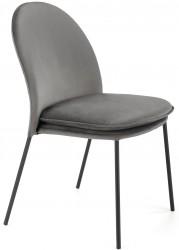 Krzesło tapicerowane K-443 popiel welur
