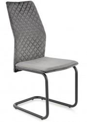 Krzesło tapicerowane K-444 popiel welur