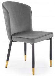 Krzesło tapicerowane K-446 popiel welur