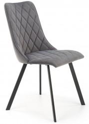 Krzesło tapicerowane K-450 popiel welur