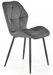 Krzesło tapicerowane K-453 popiel welur