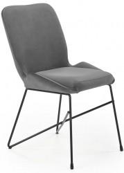 Krzesło tapicerowane K-454 popiel welur