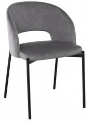 Krzesło tapicerowane K-455 popiel welur