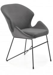 Krzesło tapicerowane K-458 popiel welur