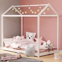 Łóżko dziecięce Yogi białe 160x80 cm