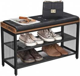 Półka na buty z siedziskiem LOFT rustyk