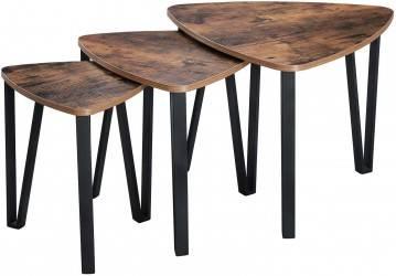 Zestaw trzech stolików kawowych LOFT