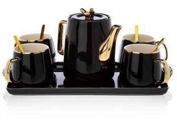 Serwis kawowy Noah Black Gold
