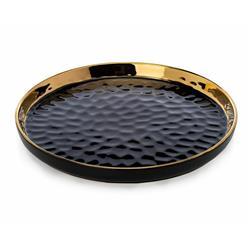 Okrągła taca dekoracyjna Lija Black 26cm
