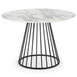 Stół okrągły Brodway White Marble 110 cm