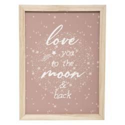 Tablica ozdobna Love You to the Moon