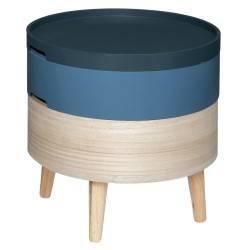 Stolik kawowy Yuki Blue ze schowkiem